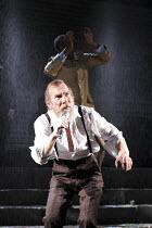 KING LEAR   by Shakespeare   set design: Giles Cadle   costumes: Nicki Gillibrand   ~lighting: Howard Harrison   director: Rupert Goold ~Pete Postlethwaite (King Lear)~Everyman Theatre, Liverpool / En...