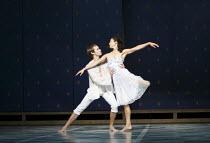 ROMEO AND JULIET   On Motifs of Shakespeare    music: Sergey Prokofiev   set design: Allen Meyer   costumes: Martin Pakledinaz   choreography: Mark Morris ~Noah Vinson (Romeo), Maile Okamura (Juliet)~...