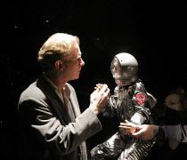 ON EMOTION   written by Mick Gordon & Paul Broks   design: Nick Barnes   lighting: Linus Fellbom   puppetry: Blind Summit   director: Mick Gordon    James Wilby (Stephen)    Soho Theatre, London W1...