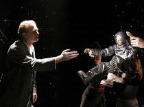 ON EMOTION   written by Mick Gordon & Paul Broks   design: Nick Barnes   lighting: Linus Fellbom   puppetry: Blind Summit   director: Mick Gordon    left: James Wilby (Stephen)    Soho Theatre, Lond...