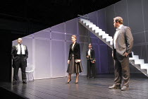 GETHSEMANE   by David Hare   set design: Bob Crowley   costumes: Fotini Dimou   lighting: Mark Henderson   director: Howard Davies ~l-r: Stanley Townsend (Otto Fallon), Tamsin Greig (Meredith Guest),...