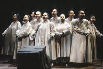 THE THEBANS   by Sophocles   in a new translation by Timberlake Wertenbaker   design: Ultz   director: Adrian Noble ~part ii - OEDIPUS AT COLONUS: Chorus~Royal Shakespeare Company (RSC) / Swan Theatre...
