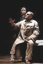 THE THEBANS   by Sophocles   in a new translation by Timberlake Wertenbaker   ~design: Ultz   director: Adrian Noble ~part ii - OEDIPUS AT COLONUS: Linda Bassett (Ismene), Gerard Murphy (Oedipus)~Roya...