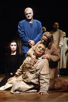 THE THEBANS   by Sophocles   in a new translation by Timberlake Wertenbaker   ~design: Ultz   director: Adrian Noble ~part ii - OEDIPUS AT COLONUS: l-r: Linda Bassett (Ismene), Philip Voss (Theseus),...