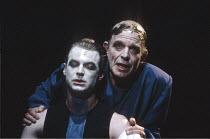 THE THEBANS   by Sophocles   in a new translation by Timberlake Wertenbaker   design: Ultz   director: Adrian Noble ~part iii - ANTIGONE: l-r: Paul Kiernan (Haemon), John Shrapnel (Creon) ~Royal Shake...