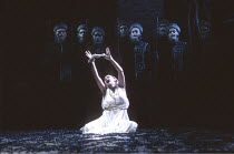 THE THEBANS   by Sophocles   in a new translation by Timberlake Wertenbaker   design: Ultz   director: Adrian Noble ~part iii - ANTIGONE: Joanne Pearce (Antigone)   and Chorus~Royal Shakespeare Compan...