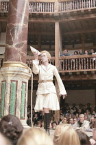 THE TEMPEST   by Shakespeare   ~Master of Design: Bjanka Ursulov   Master of Play (director): Lenka Udovicki ~Geraldine Alexander (Ariel)   ~Shakespeare's Globe, London SE1                    05/2000