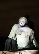 RIDERS TO THE SEA   by Vaughan Williams   after the play by J M Synge   ~conductor: Edward Gardner   design: Dorothy Cross & Tom Pye   lighting: Jean Kalman   director: Fiona Shaw ~cradling her drowne...