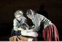 RIDERS TO THE SEA   by Vaughan Williams   after the play by J M Synge   conductor: Edward Gardner   design: Dorothy Cross & Tom Pye   lighting: Jean Kalman   director: Fiona Shaw ~lifting drowned Bart...