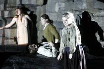RIDERS TO THE SEA   by Vaughan Williams   after the play by J M Synge   conductor: Edward Gardner   design: Dorothy Cross & Tom Pye   lighting: Jean Kalman   director: Fiona Shaw ~front l-r: Claire Bo...