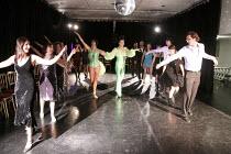 MISS HIGH LEG KICK AND BOOGALOO STU SCHOOL OF DANCE   centre: Miss High Leg Kick, Boogaloo Stu    Rehearsal Room / bite08 / Barbican Theatre, London EC2      03/12/2008