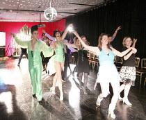 MISS HIGH LEG KICK AND BOOGALOO STU SCHOOL OF DANCE   front left: Boogaloo Stu, Miss High Leg Kick    Rehearsal Room / bite08 / Barbican Theatre, London EC2      03/12/2008