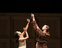 ROMEO AND JULIET   On Motifs of Shakespeare    music: Sergey Prokofiev   ~set design: Allen Meyer   costumes: Martin Pakledinaz   choreography: Mark Morris ~Maile Okamura (Juliet), John Heginbotham (F...