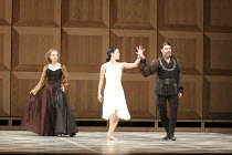 ROMEO AND JULIET   On Motifs of Shakespeare    music: Sergey Prokofiev   set design: Allen Meyer   costumes: Martin Pakledinaz   choreography: Mark Morris ~l-r: Megan Williams (Lady Capulet), Maile Ok...