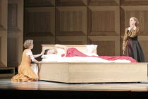 ROMEO AND JULIET   On Motifs of Shakespeare    music: Sergey Prokofiev   set design: Allen Meyer   costumes: Martin Pakledinaz   choreography: Mark Morris ~Nurse and Lady Capilet discover drugged Juli...