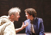 TWELFTH NIGHT   by Shakespeare   design: Christopher Oram   lighting: Neil Austin   director: Michael Grandage ~~Mark Bonnar (Orsino), Victoria Hamilton (Viola)   ~Donmar West End at Wyndham's Theatre...