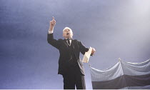 TWELFTH NIGHT   by Shakespeare   design: Christopher Oram   lighting: Neil Austin   director: Michael Grandage ~~Derek Jacobi (Malvolio)~Donmar West End at Wyndham's Theatre, London WC2        10/12/2...