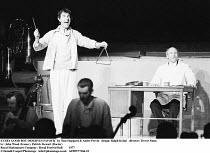 EVERY GOOD BOY DESERVES FAVOUR   by Tom Stoppard & Andre Previn   design: Ralph Koltai   director: Trevor Nunn ~l-r: John Wood (Ivanov), Patrick Stewart (Doctor)~Royal Shakespeare Company / Royal Fest...