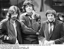 EVERY GOOD BOY DESERVES FAVOUR   by Tom Stoppard & Andre Previn   design: Ralph Koltai   director: Trevor Nunn ~l-r: Trevor Nunn, Tom Stoppard, Andre Previn~Royal Shakespeare Company / Mermaid Theatre...