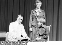 EVERY GOOD BOY DESERVES FAVOUR   by Tom Stoppard & Andre Previn   design: Ralph Koltai   director: Trevor Nunn ~l-r: Rhys McConochie (Doctor), Rowena Cooper (Teacher), xxxxxxx (Sacha)~Royal Shakespear...