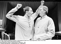 EVERY GOOD BOY DESERVES FAVOUR   by Tom Stoppard & Andre Previn   design: Ralph Koltai   director: Trevor Nunn ~l-r: John Carlisle (Colonel), John Woodvine (Alexander)~Royal Shakespeare Company / Merm...