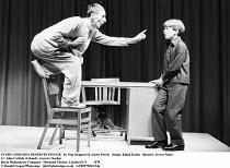 EVERY GOOD BOY DESERVES FAVOUR   by Tom Stoppard & Andre Previn   design: Ralph Koltai   director: Trevor Nunn ~l-r: John Carlisle (Colonel), xxxxxxx (Sacha)~Royal Shakespeare Company / Mermaid Theatr...