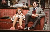 ENTERTAINING MR SLOANE   by Joe Orton   design: Saul Radomsky   director: Kenneth Williams ~~Barbara Windsor (Kath), Dave King (Ed)~Lyric Hammersmith (LTH), London W6     18/03/1981