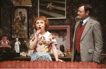 ENTERTAINING MR SLOANE   by Joe Orton   design: Saul Radomsky   director: Kenneth Williams ~~Barbara Windsor (Kath), Dave King (Ed)~Lyric Hammersmith (LTH), London W6  18/03/1981 ~(c) Donald Cooper/Ph...