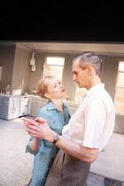 MRS  AFFLECK   by Samuel Adamson   after 'Little Eyolf' by Ibsen   ~design: Bunny Christie   lighting: Neil Austin   director: Marianne Elliott ~Claire Skinner (Rita Affleck), Angus Wright (Alfred Aff...