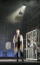 THE MERCHANT OF VENICE   by Shakespeare    design: Michael Pavelka   lighting: Ben Ormerod   director: Edward Hall   Kelsey Brookfield (Portia) Propeller & Watermill Theatre Newbury & Liverpool Eve...