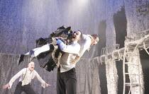 A MIDSUMMER NIGHT'S DREAM   by Shakespeare   design: Michael Pavelka   lighting: Ben Ormerod   director: Edward Hall   l-r: Jack Tarlton (Lysander), Sam Swainsbury (Demetrius), Richard Frame (Hermia)...