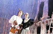 A MIDSUMMER NIGHT'S DREAM   by Shakespeare   design: Michael Pavelka   lighting: Ben Ormerod   director: Edward Hall   l-r: Bob Barrett (Bottom), Richard Dempsey (Titania) Propeller & Watermill Thea...