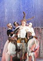 A MIDSUMMER NIGHT'S DREAM   by Shakespeare    design: Michael Pavelka   lighting: Ben Ormerod   director: Edward Hall   centre: Bob Barrett (Bottom)   with Titania & and fairies Propeller & Watermi...