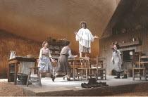 DANCING AT LUGHNASA   by Brian Friel   design: Joe Vanek   director: Patrick Mason ~l-r: Anita Reeves (Maggie), Brid Brennan (Agnes), Catherine Byrne (Chris), Brid Ni Neachtain (Rose)~Abbey Theatre Du...