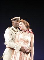 OTHELLO   by Shakespeare   design: Liz Cooke   lighting: Mark Jonathan   director: Kathryn Hunter ~Patrice Naiambana (Othello), Natalia Tena (Desdemona)~Royal Shakespeare Company (RSC) Tour   ~Warwick...