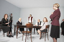 SEVEN JEWISH CHILDREN   by Caryl Churchill   director: Dominic Cooke ~l-r: Jennie Stoller, Samuel Roukin, Ruth Posner, Ben Caplan, David Horovitch, Daisy Lewis, Susannah Wise, Jack Chissick~Jerwood Th...