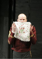 OTHELLO by Shakespeare  set design: Ruari Murchison  costumes: Stephen Snell  lighting: Guy Hoare  director: Barrie Rutter ~Conrad Nelson (Iago)    ~a Northern Broadsides & West Yorkshire Playhouse co...