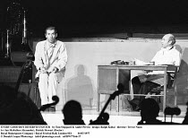 EVERY GOOD BOY DESERVES FAVOUR   by Tom Stoppard & Andre Previn   design: Ralph Koltai   director: Trevor Nunn ~l-r: Ian McKellen (Alexander), Patrick Stewart (Doctor)~Royal Shakespeare Company / Roya...