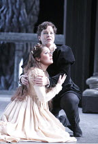 I CAPULETI E I MONTECCHI   by Bellini   ~conductor: Mark Elder   design, original lighting & direction: Pier Luigi Pizzi ~front: Anna Netrebko (Giulietta)   behind: Elina Garanca (Romeo)~The Royal Ope...