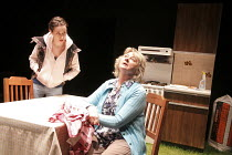 MIRACLE   by Molly Davies   design: Patrick Burnier   director: Lyndsey Turner   l-r: Kate O'Flynn (Amy), Sorcha Cusack (Val) Young Writers Festival / Jerwood Theatre Upstairs / Royal Court Theatre...