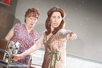 THE NEW ELECTRIC BALLROOM   written & directed by Enda Walsh   design: Sabine Dargent   l-r: Rosaleen Linehan (Breda), Catherine Walsh (Ada)     Druid Theatre, Galway production / Riverside Studios,...