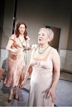 THE NEW ELECTRIC BALLROOM   written & directed by Enda Walsh   design: Sabine Dargent   l-r: Catherine Walsh (Ada), Ruth McCabe (Clara)    Druid Theatre, Galway production / Riverside Studios, Londo...