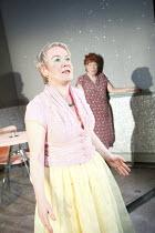 THE NEW ELECTRIC BALLROOM   written & directed by Enda Walsh   design: Sabine Dargent   l-r: Ruth McCabe (Clara), Rosaleen Linehan (Breda)   Druid Theatre, Galway production / Riverside Studios, Lon...