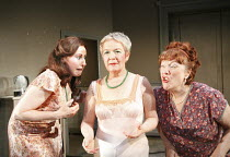 THE NEW ELECTRIC BALLROOM   written & directed by Enda Walsh   design: Sabine Dargent   l-r: Catherine Walsh (Ada), Ruth McCabe (Clara), Rosaleen Linehan (Breda)    Druid Theatre, Galway production...