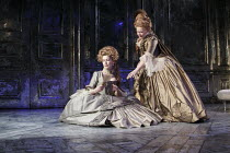 MADAME DE SADE   by Yukio Mishima   translated by Donald Keene   design: Christopher Oram   lighting: Neil Austin   director: Michael Grandage ~l-r: Rosamund Pike (Renee, Madame de Sade), Judi Dench (...