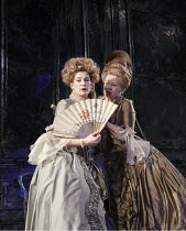 MADAME DE SADE   by Yukio Mishima   translated by Donald Keene   ~design: Christopher Oram   lighting: Neil Austin   director: Michael Grandage ~l-r: Rosamund Pike (Renee, Madame de Sade), Judi Dench...