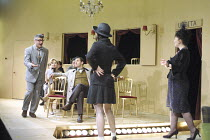 SIX CHARACTERS LOOKING FOR AN AUTHOR   by Luigi Pirandello   in a new translation by David Harrower    set design: Giles Cadle   costumes: Nicky Gillibrand   director: Richard Jones   standing, l-r:...