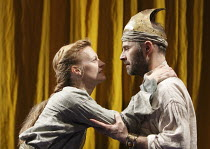 DIDO, QUEEN OF CARTHAGE   by Christopher Marlowe   set design: Tobias Hoheisel   ~costumes: Moritz Junge   lighting: Adam Silverman   director: James Macdonald ~Anastasia Hille (Dido), Mark Bonnar (Ae...