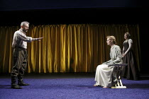 DIDO, QUEEN OF CARTHAGE   by Christopher Marlowe   set design: Tobias Hoheisel   costumes: Moritz Junge   lighting: Adam Silverman   director: James Macdonald ~l-r: Mark Bonnar (Aeneas), Anastasia Hil...