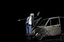 INFERNO   written, directed and designed by Romeo Castellucci   inspired by Dante Alighieri's 'Divine Comedy'   Andy Warhol hit by a car: Silvia Costa as Warhol Societas Raffaello Sanzio / Spill Fes...